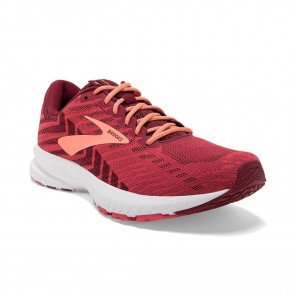 BROOKS LAUNCH 6 Femme |  Rumba Red / Teaberry / Coral