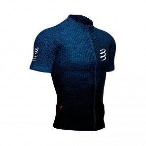 COMPRESSPORT Tee-shirt manche courte TRAIL POSTURAL Homme | Bleu mélange