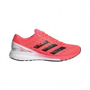 ADIDAS ADIZERO BOSTON 9 Femme - SIGNAL PINK /CORE BLACK / COPPER METALLIC