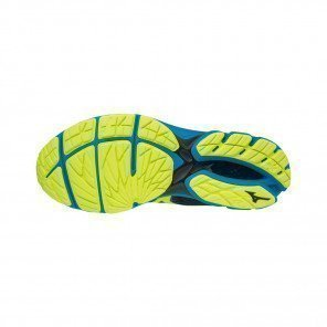 MIZUNO WAVE RIDER 22 Homme | Ombre Blue/Safety Yellow/Diva Blue