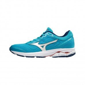 MIZUNO WAVE RIDER 22 Femme Blue Attol/White/Georgia Peach | Collection Automne hiver 2018