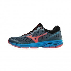 MIZUNO WAVE RIDER 22 Femme Blue Mirage/Fiery Coral/Diva Blue | Collection Automne hiver 2018