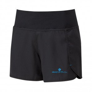 RONHILL SHORT REVIVE STRIDE Femme | BLACK/SKY BLUE